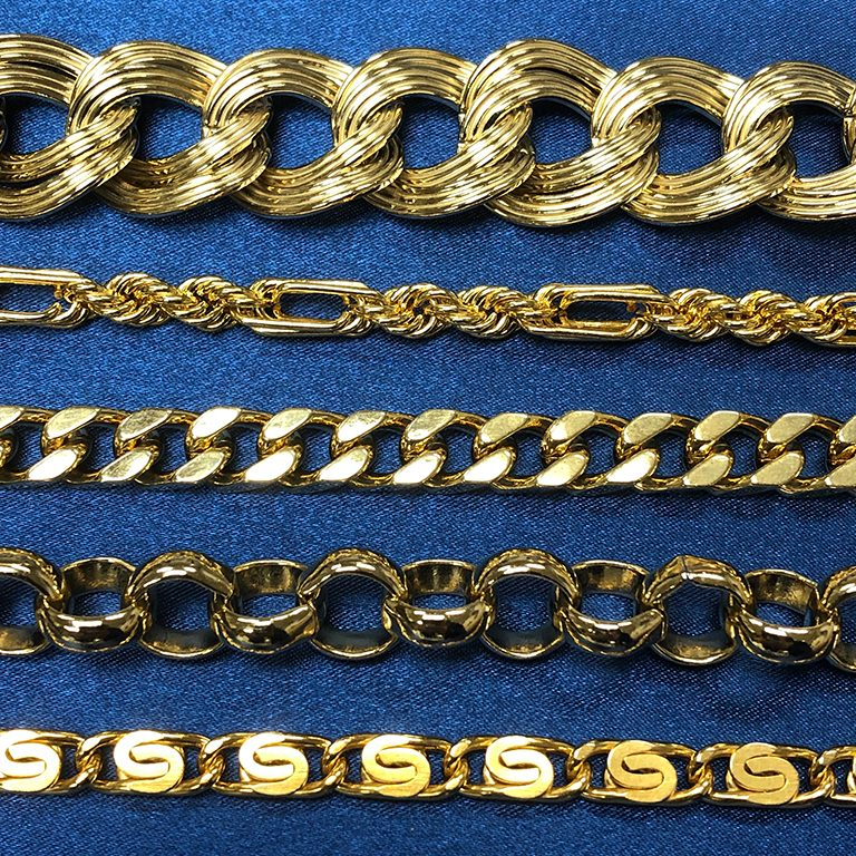 MACHINE BRASS NEW CHAINS (top to bottom)  T-11233B/3MM  HFR-10/L&S  125DCH4/SPT  HF-4.0  SC-115S/DC