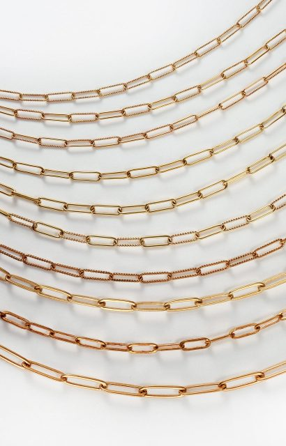 Brass Paper Clip Style Chains