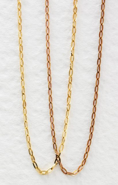 Brass Chain 240BSF/DCRT4 0.4mm Wire Gauge 1.5mm Width, 3.0mm Length